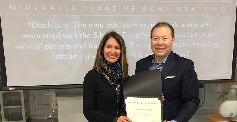 Dr. Tredinick with Dr. Lee
